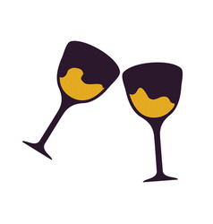 Two glasses with beverages vector
