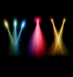 Various coloured spotlights vector