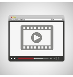 video player template design vector image