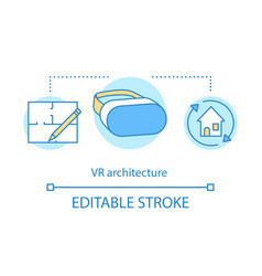 virtual reality architecture concept icon vector image