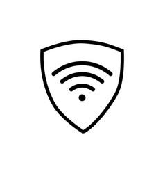 Vpn - virtual private network icon simple shield vector