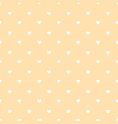 white hearts on peach colour background vector image vector image