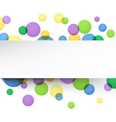 White paper sheet over color bubbles vector