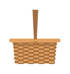 Wicker basket camping cartoon icon symbol empty vector