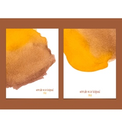 Yellow and brown watercolor background vector