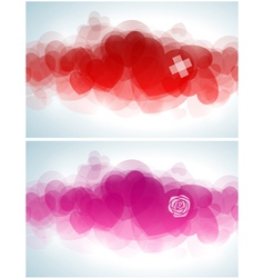 Abstract Valentines day design vector image vector image
