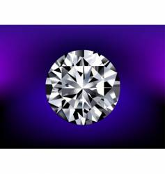 detailed diamond vector image vector image