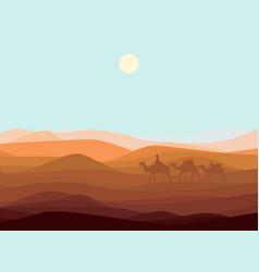 sand desert landscape template vector image