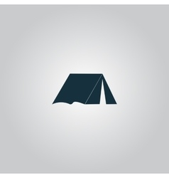 Tourist tent vector image vector image