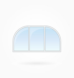 window frame with two rounded corners eps 10 vector image