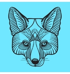 Animal fox head print for adult anti stress vector image vector image