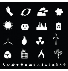 eco icons vector image vector image