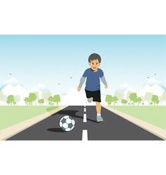 Kids kick vector image