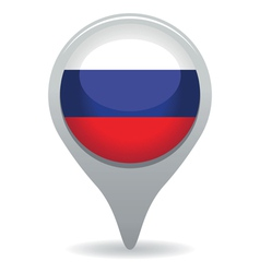 russian flag pointer vector image vector image