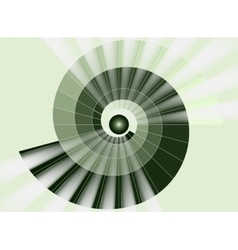 Spiral staircase green tunnel to the light vector image vector image