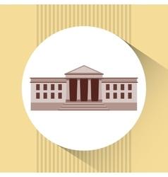 white house design vector image