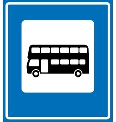 black London bus icon on white background vector image