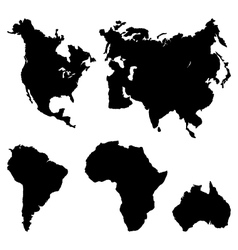 Continents Pictogram vector image vector image