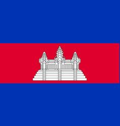 Flag of kingdom of cambodia vector