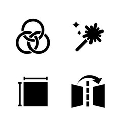image editing simple related icons vector image vector image