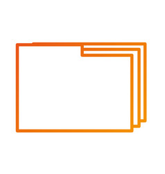 folder file document paper web icon vector image vector image