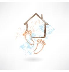 housewarming grunge icon vector image vector image
