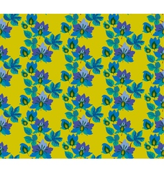 seamless pattern of fairytale blue flowers vector image