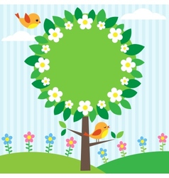 tree frame vector image vector image