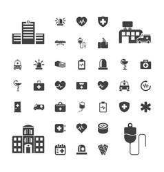 37 emergency icons vector