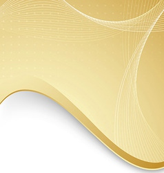 Abstract background with golden border and waves vector image