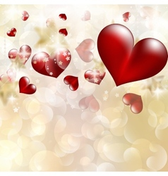 Abstract heart bokeh bright background EPS 10 vector image