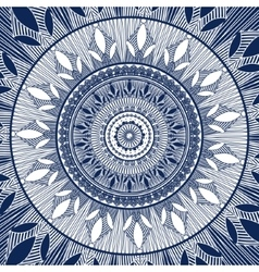 Abstract round ornament Blue ornament vector image