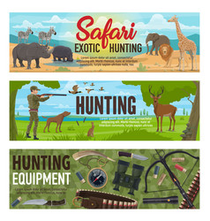 african safari and forest hunting sport vector image