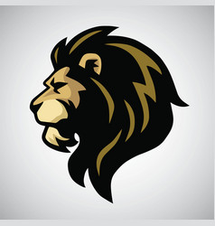 angry lion head mascot logo vector image