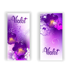 Banner with Bright Violets vector