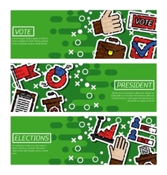 Banners about vote vector