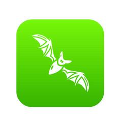 bat icon simple black style vector image