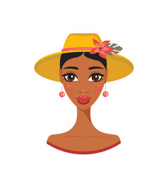 Beautiful african american young woman in stylish vector