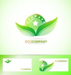 Bio leafs logo vector image