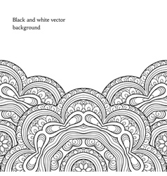 Black and white background vector image