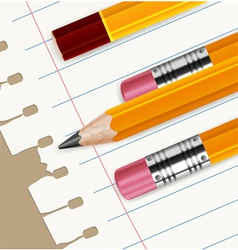 blank paper pencisl 10 v vector image
