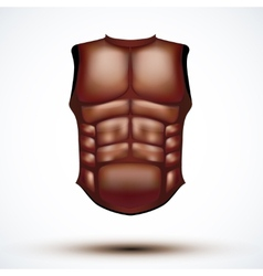 Brown leather ancient gladiator body armor vector image