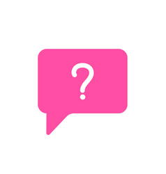 bubble chat help message question icon vector image