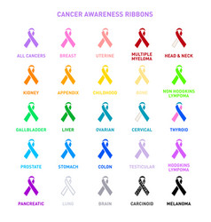 Cancer awareness ribbons vector