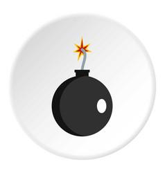 Cannonball icon circle vector