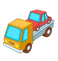 Car transportation icon cartoon style vector