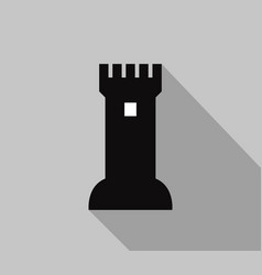 castle fortress icon vector image