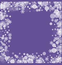 Christmas and new year ultra violet snowflakes vector