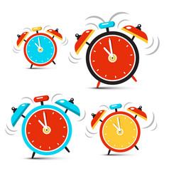 clock - time symbol ringing alarm clocks set vector image