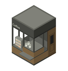 coffee street shop icon isometric style vector image